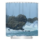 Lighthouse On An Island, Creach Shower Curtain