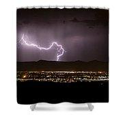 Lightning 9 Shower Curtain