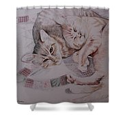 Lilly And Maddie Shower Curtain by Kathy Weidner