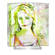 Lily Lime Shower Curtain
