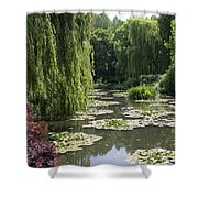 Lily Pond - Monets Garden Shower Curtain