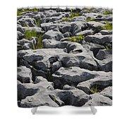 Limestone In The Burren Shower Curtain