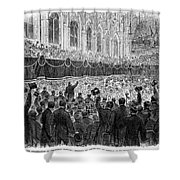 Lincoln Assassination, 1865 Shower Curtain