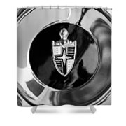 Lincoln Capri Wheel Emblem Shower Curtain by Jill Reger