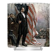 Lincoln Independence Hall Shower Curtain