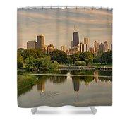 Lincoln Park Lagoon Chicago Shower Curtain