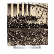 Lincoln's Inauguration, 1865 Shower Curtain