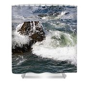 Linda Mar Beach Surf Shower Curtain