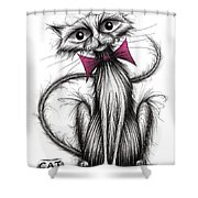 Little Fluffy Shower Curtain