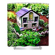 Little Garden Farmhouse Shower Curtain