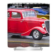 Little Red Coup Shower Curtain