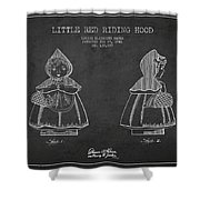 Little Red Riding Hood Patent Drawing From 1943 Shower Curtain
