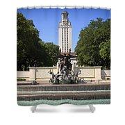 Littlefield Fountain - University Of Texas Shower Curtain