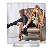 Liuda13 Shower Curtain
