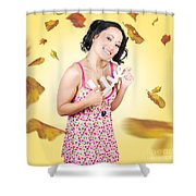 Live Love Life. Autumn Lifestyle Shower Curtain