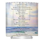 Live One Day At A Time Shower Curtain