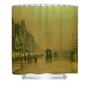 Liverpool Docks Shower Curtain