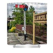 Llangollen Railway Station Shower Curtain