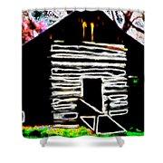 Log Cabin Home Shower Curtain