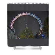 London Eye At Night Shower Curtain