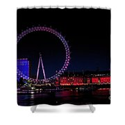 London Eye In Red White And Blue Shower Curtain