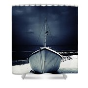 Loneliness Shower Curtain by Stelios Kleanthous
