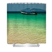 Longboat Asia Shower Curtain