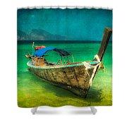 Longboat Thailand Shower Curtain