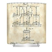 Louis Pasteur Beer Brewing Patent 1873 - Vintage Shower Curtain