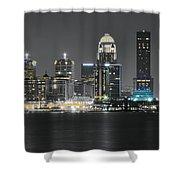 Night Lights Of Louisville Shower Curtain