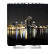 Louisville With The Moon Shower Curtain