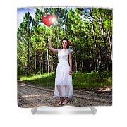 Love Heart Balloons  Shower Curtain