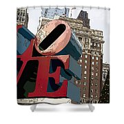 Love In The Park Shower Curtain