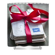 Love Letters Tied With Ribbon Shower Curtain