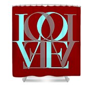 Love Typography Shower Curtain