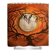 Love Under The Moon Shower Curtain