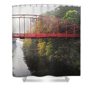 Lovers Leap Bridge Shower Curtain