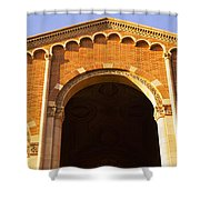 Low Angle View Of Royce Hall Shower Curtain