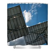 Low Angle View Of Solar Panels Shower Curtain