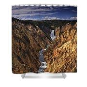 Lower Yellowstone Falls II Shower Curtain