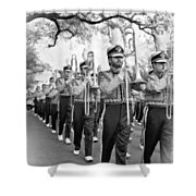 Lsu Marching Band Vignette Shower Curtain