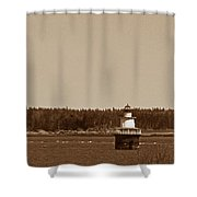 Lubec Channel Lighthouse Shower Curtain