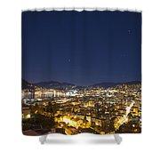 Lugano By Night Shower Curtain