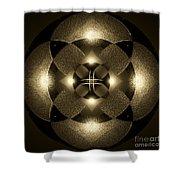 Luminous Mandala Shower Curtain