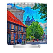 Lund Street Scene Shower Curtain