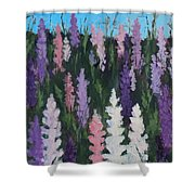 Lupines - Art By Bill Tomsa Shower Curtain