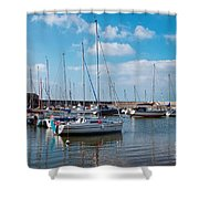 Lyme Regis Harbour 2 Shower Curtain