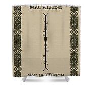 Macaleese Written In Ogham Shower Curtain