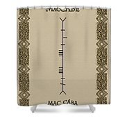 Maccabe Written In Ogham Shower Curtain