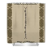 Maccormack Written In Ogham Shower Curtain